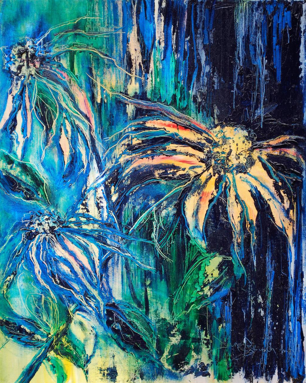 Pluie florale